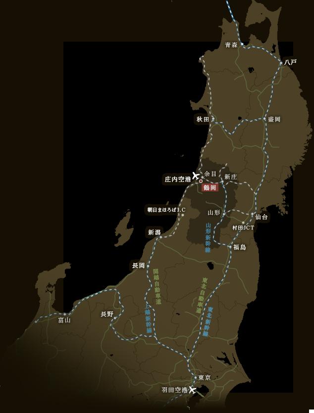 東北広域地図