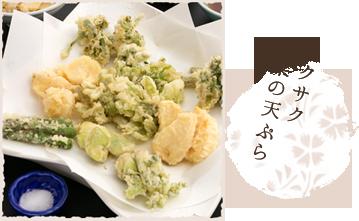 サクサク山菜の天ぷら